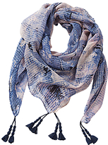 Betty Barclay Printed Square Scarf, Blue