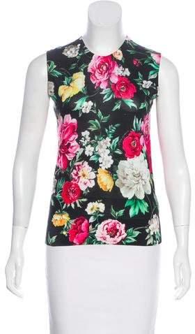 Dolce & Gabbana 2018 Floral Print Top w/ Tags