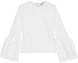 Roksanda Truffaut Gathered Cotton-poplin Blouse