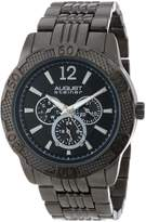 August Steiner Men's AS8058BK Quartz Multi-Function Sport Bracelet Watch