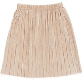 Truly Me Toddler Girl's Metallic Pleated Skirt