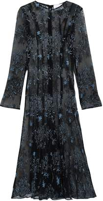 Georgia Alice Debutante Embroidered Plisse Tulle Midi Dress