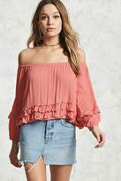 Forever 21 Off-the-Shoulder Ruffled Top