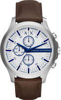 Armani Exchange Chronograph leather strap watch