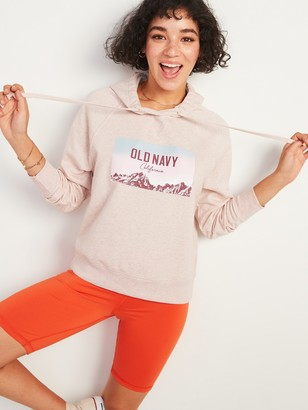 Old Navy Logo-Graphic Pullover Hoodie for Women