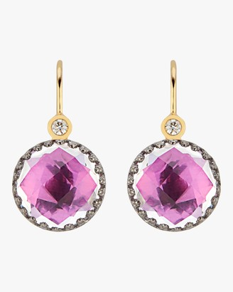 Larkspur & Hawk Small Olivia Button Diamond Earrings