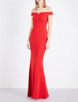 Alexander McQueen Off-the-shoulder crepe gown