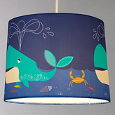 John Lewis little home at Easy-to-fit Waves & Whales Ceiling Pendant Shade