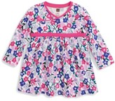 Tea Collection Infant Girl's Floral Wrap Neck Dress