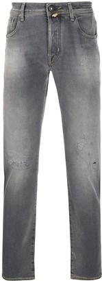 Jacob Cohen Comfort Fit straight-leg distressed jeans