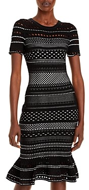 Milly Geo Cutout Midi Dress