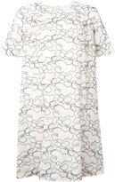 Giamba abstract embroidery T-shirt dress - women - Cotton/Polyester - 40