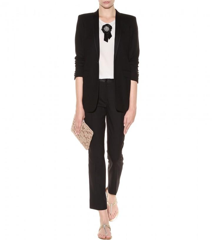 Dolce & Gabbana Rosette-embellished silk top