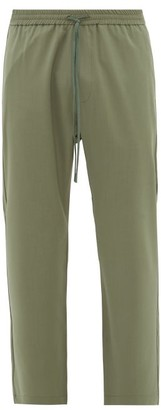 Barena Bativoga Drawstring-waist Wool Trousers - Green