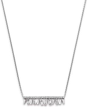Bloomingdale's Kc Designs 14K White Gold Mosaic Diamond Bar Necklace, 18