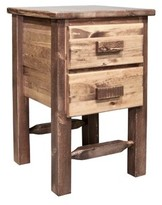 Abella 2 Drawer Nightstand Loon Peak Color: Stained and Lacquered