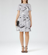 Reiss Bronte Printed Dress