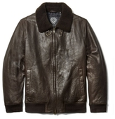 Vince Camuto Leather Aviator Jacket