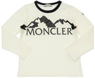 Moncler Logo Print L/S Cotton Jersey T-Shirt