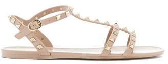 Valentino Rockstud Jelly Sandals - Nude