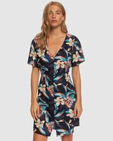 Roxy Womens Damage Love Short Sleeve Buttoned Dress