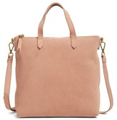 Madewell Mini Transport Suede Crossbody Bag - Beige