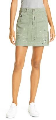 NSF Goldie Painted Miniskirt