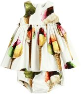Dolce & Gabbana Ice Cream Cotton Dress & Diaper Cover