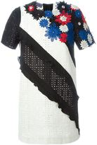 Ungaro flower appliqué embroidered dress