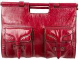 Loewe Coated Leather Satchel Bag