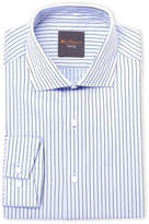 Ben Sherman Blue Stripe Dobby Slim Fit Dress Shirt