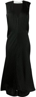 Off-White Tone-On-Tone Logo Asymmetric Dress