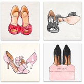 Oliver Gal My Shoes (Set of 4) (Canvas)