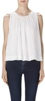 J Brand Isla Sleeveless Top In White