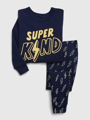 Gap babyGap Super Kind Lightning Bolt PJ Set