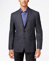 Vince Camuto Men's Slim Modern Fit Gray Mini Windowpane Sport Coat
