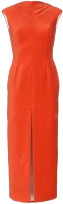 Situationist Front-Slit Midi Dress