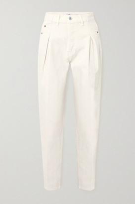 RE/DONE 40s Zoot Pleated High-rise Straight-leg Jeans - White
