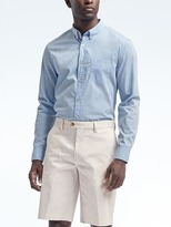 Banana Republic Camden Standard-Fit Custom-Wash Stripe Shirt