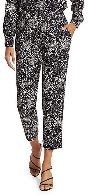 Joie Ceylon Print Cropped Trousers