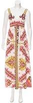 Tibi Silk Printed Maxi Dress