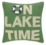 The Well Appointed House On Lake Time Hook Pillow