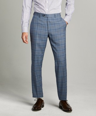 Todd Snyder Sutton Wool Suit Trouser in Blue Check