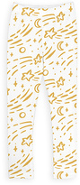 Urban Smalls White & Yellow Shooting Stars Leggings - Toddler & Girls