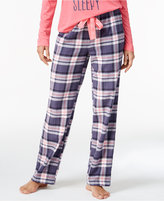 Jenni by Jennifer Moore Plaid Flannel Pajama Pants, Only at Macy's