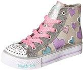Skechers Twinkle Toes Shuffles High Top Lighted Sneaker (Little Kid/Big Kid/Toddler)