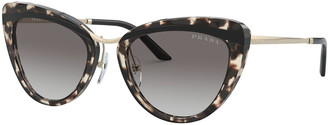 Prada Two-Tone Acetate Cat-Eye Sunglasses