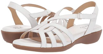 Naturalizer Nalani (White Leather) Women's Sandals