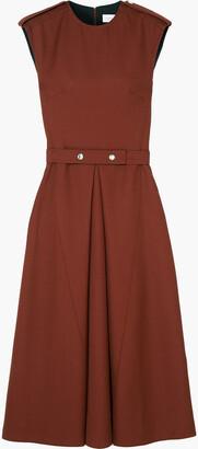 Victoria Beckham Wool-canvas Midi Dress