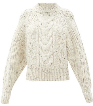 Isabel Marant Flover Cable-knit Wool-blend Sweater - Cream